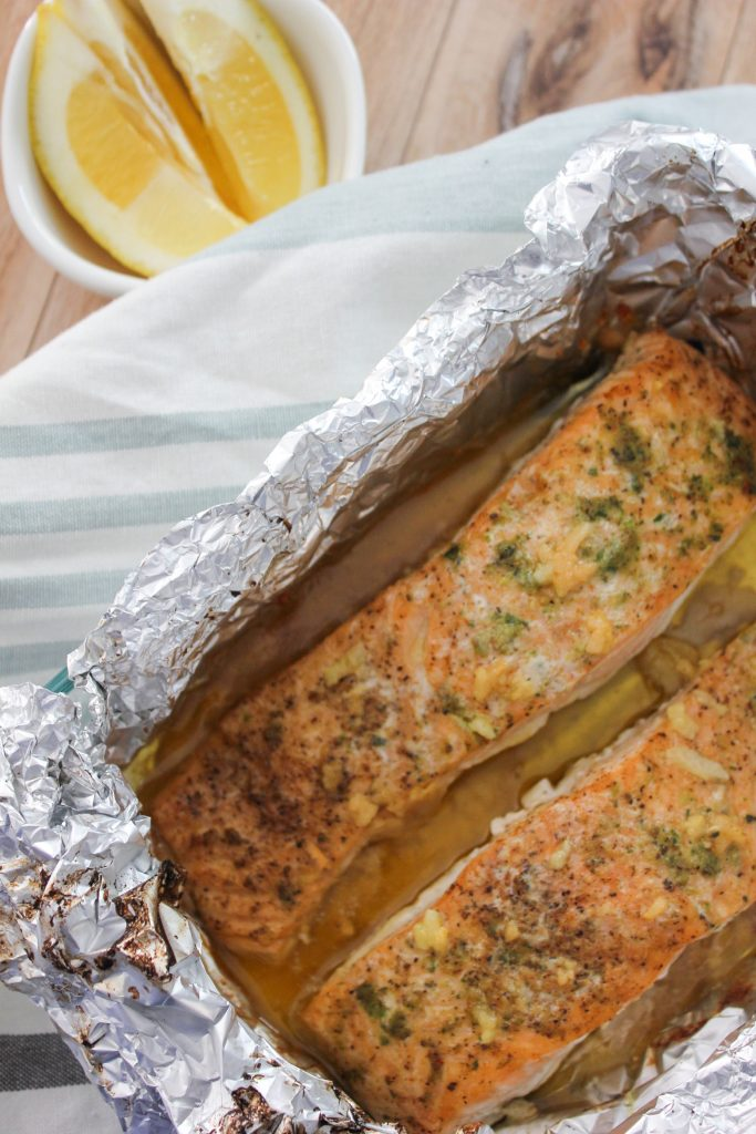 Garlic Butter Salmon in Foil
