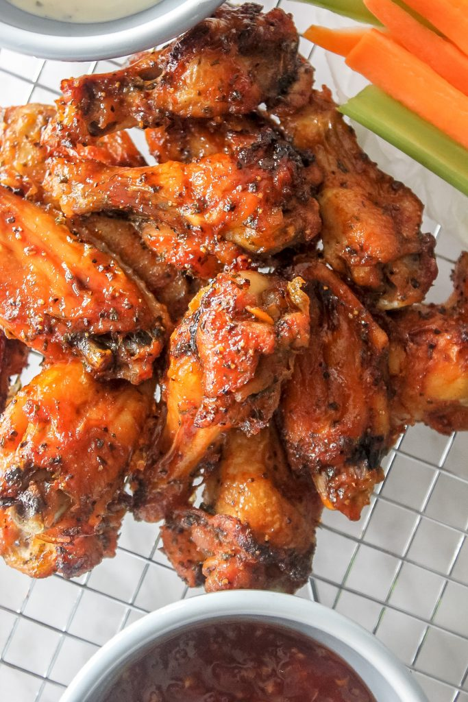 BBQ Sriracha Wings w/ Carrots and Celery