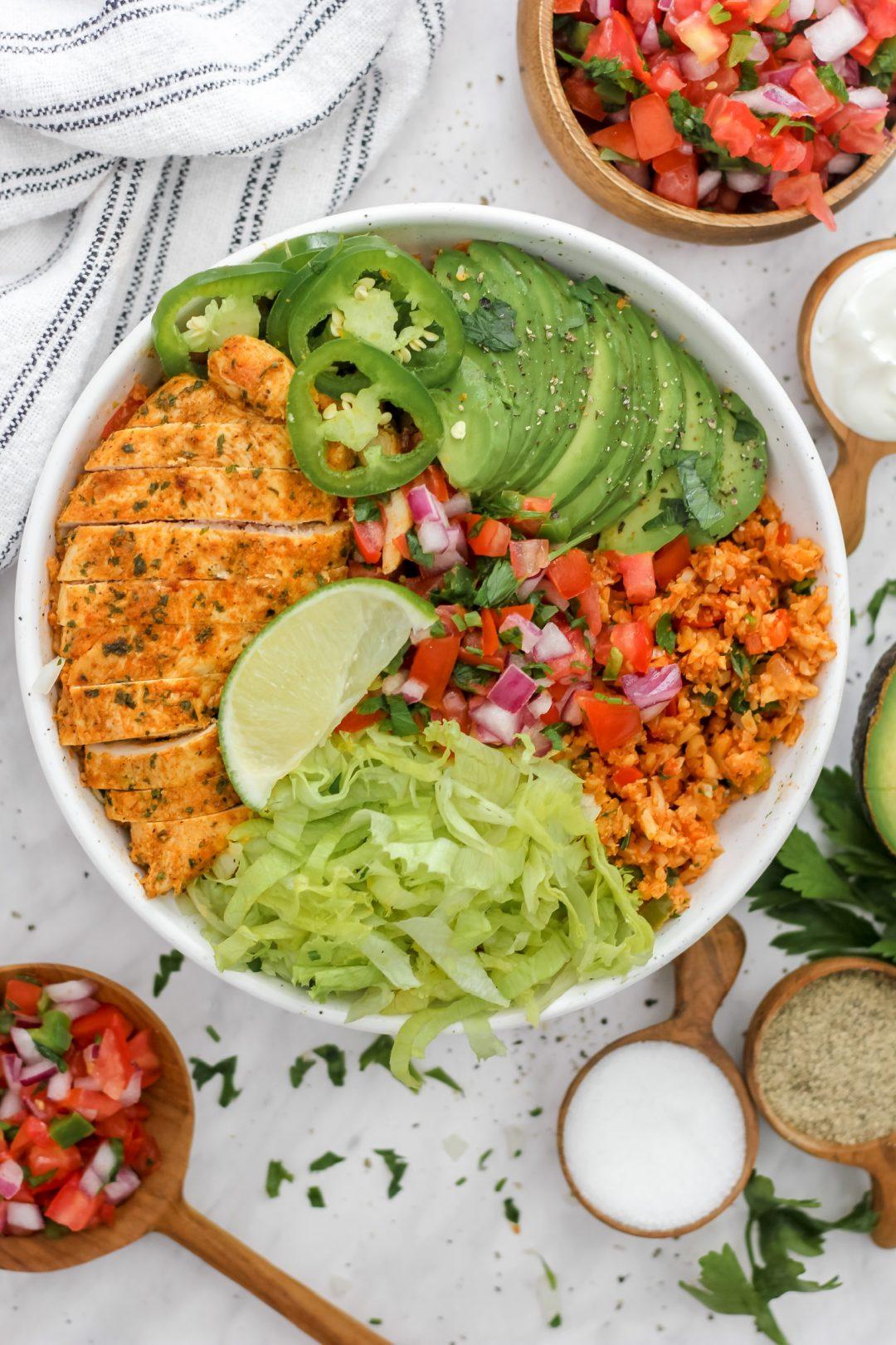 W30 Mexican Cauli-Rice Burrito Bowl