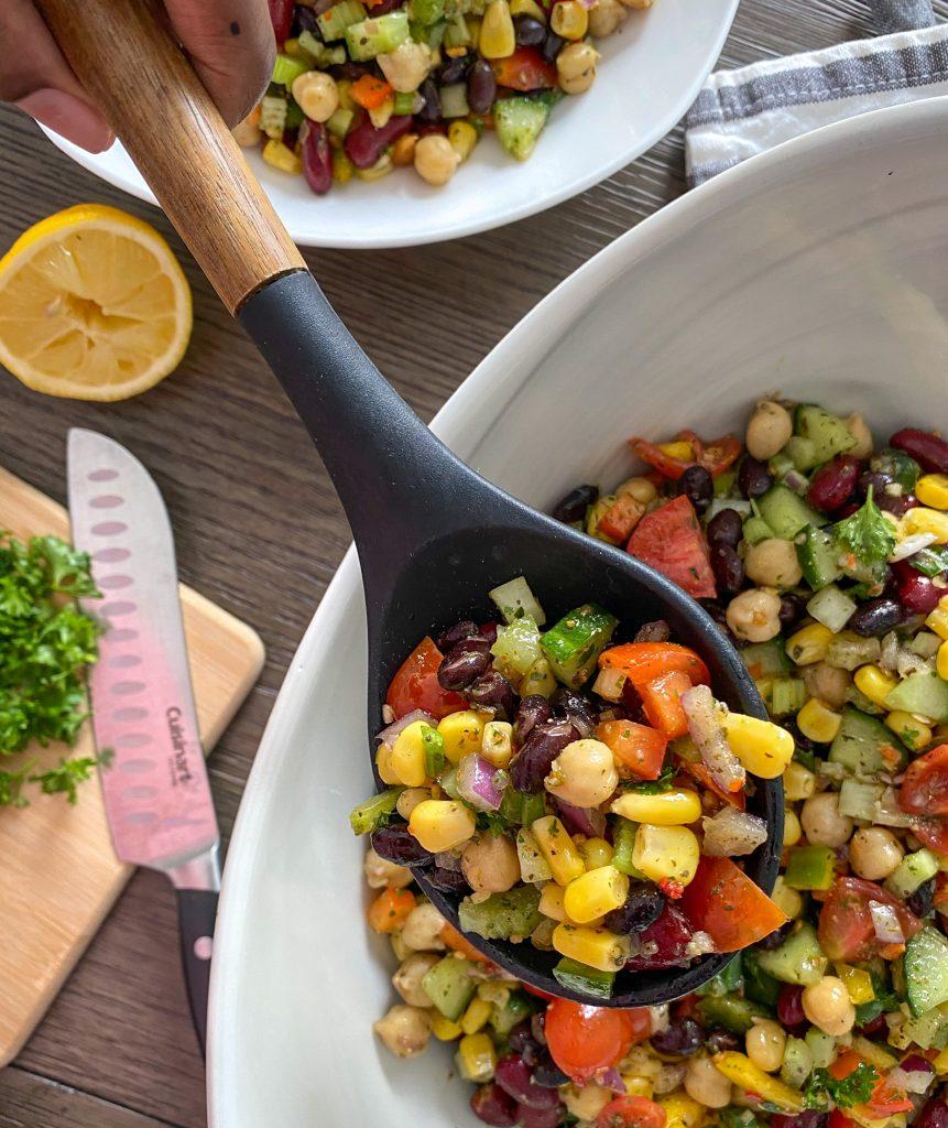 Fresh Vegetable & Mixed Bean Salad