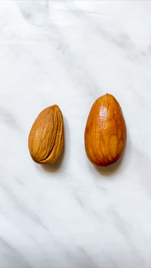 Dried vs. Soaked Almond Nut