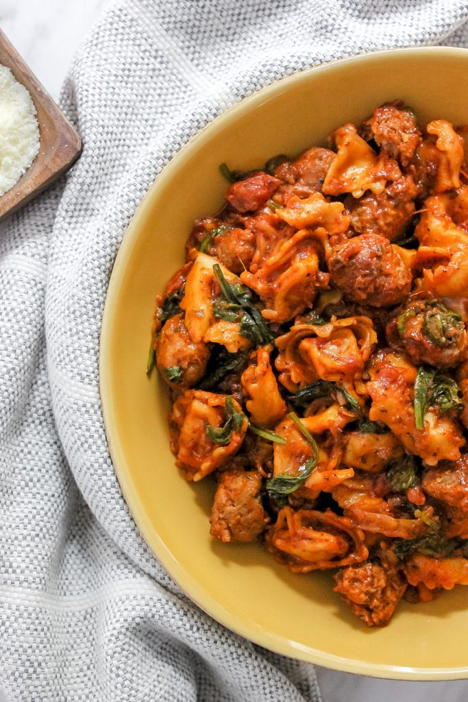 sausage and cheese tortellini