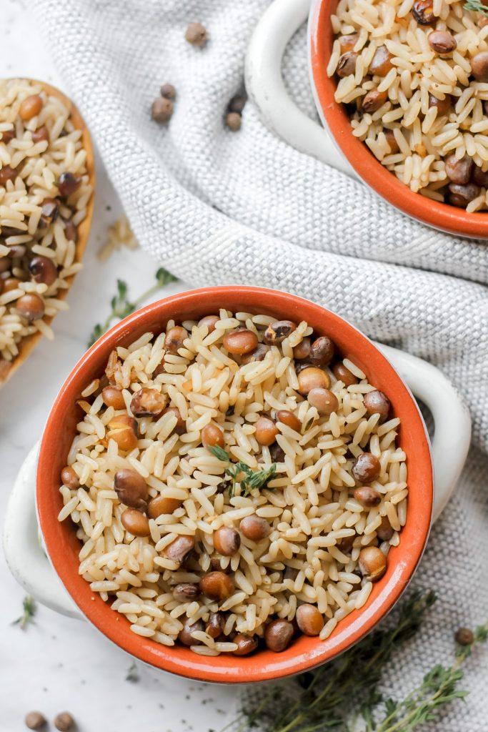 "easy jamaican pigeon ""gungo"" peas and rice  the seasoned"