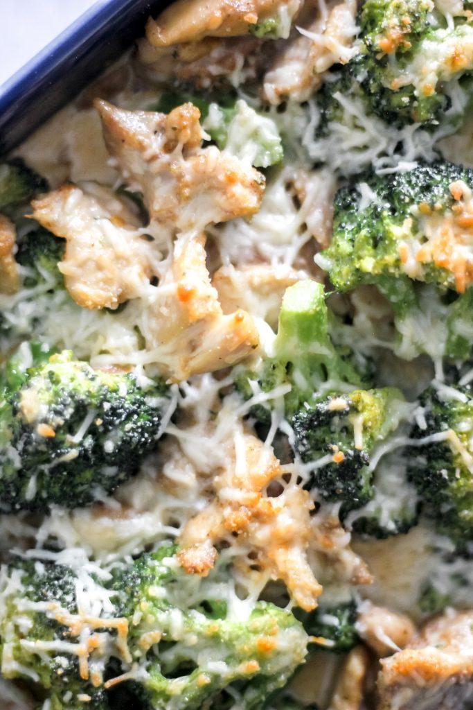 Keto Chicken Broccoli Alfredo Bake