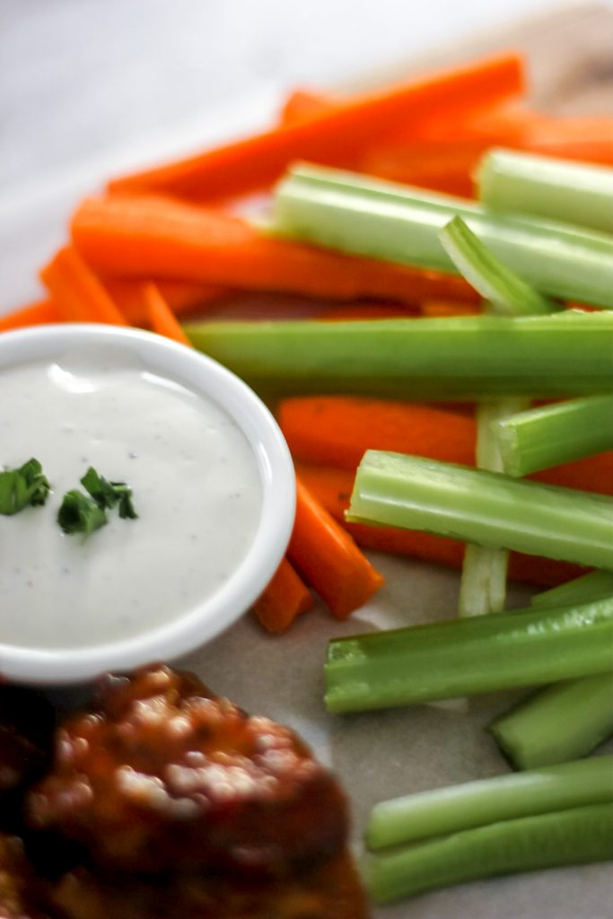 Carrots and Celery with Ranch Dip