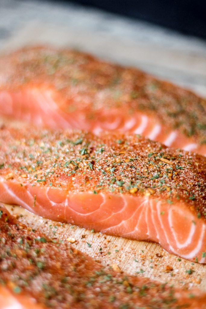 Salmon Fillet with Dry Rub Seasoning