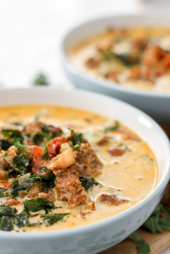 Easy Keto Tuscan Soup Finished Recipe