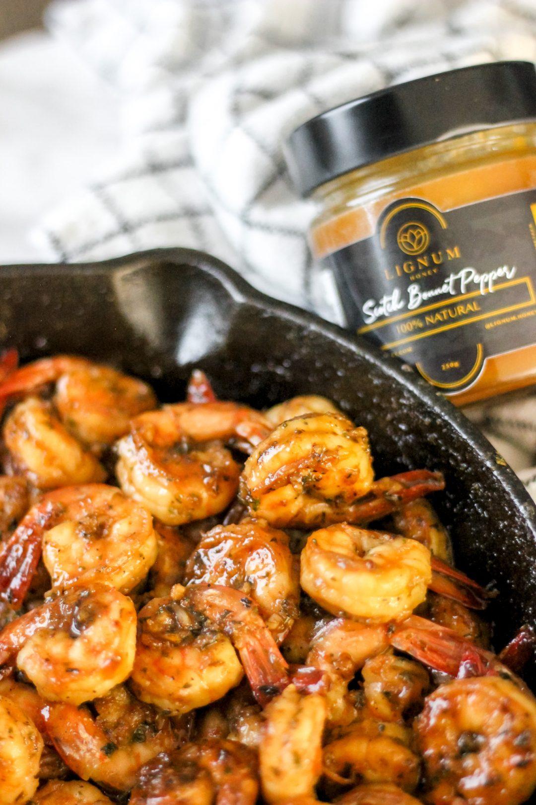 Scotch Bonnet Orange Glazed Shrimp