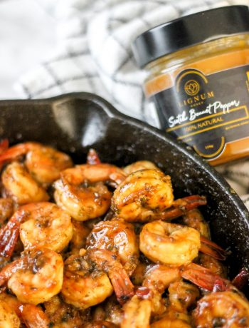Scotch Bonnet Orange Glazed Shrimp