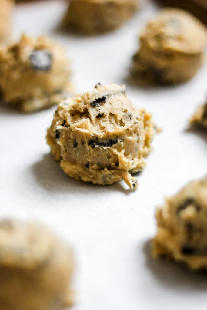 Scoop of Cookie on Sheet
