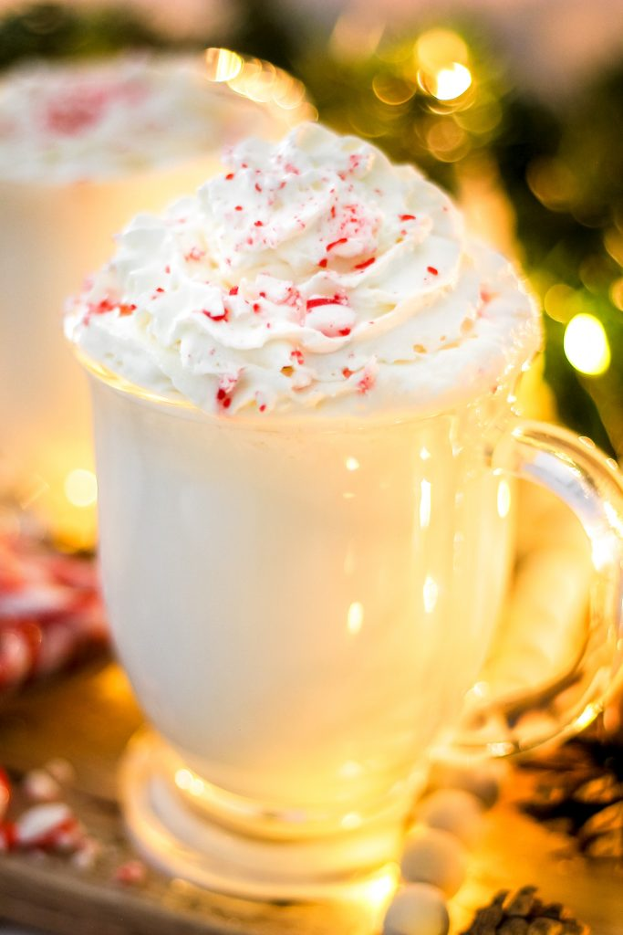 Christmas Peppermint White Hot Chocolate