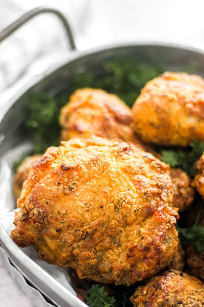 Crispy Air Fryer Fried Chicken Thighs and Legs