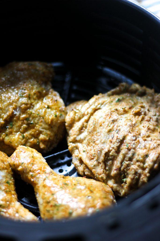 Chicken in Air Fryer Basket