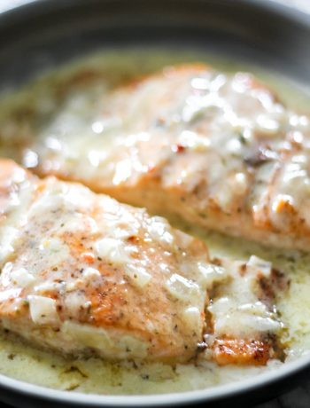 Easy Creamy Lemon Butter Salmon