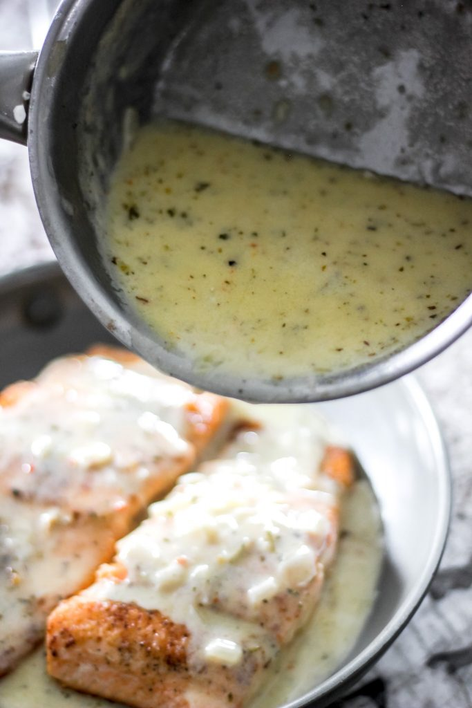Creamy Lemon Butter Sauce in Saucepan