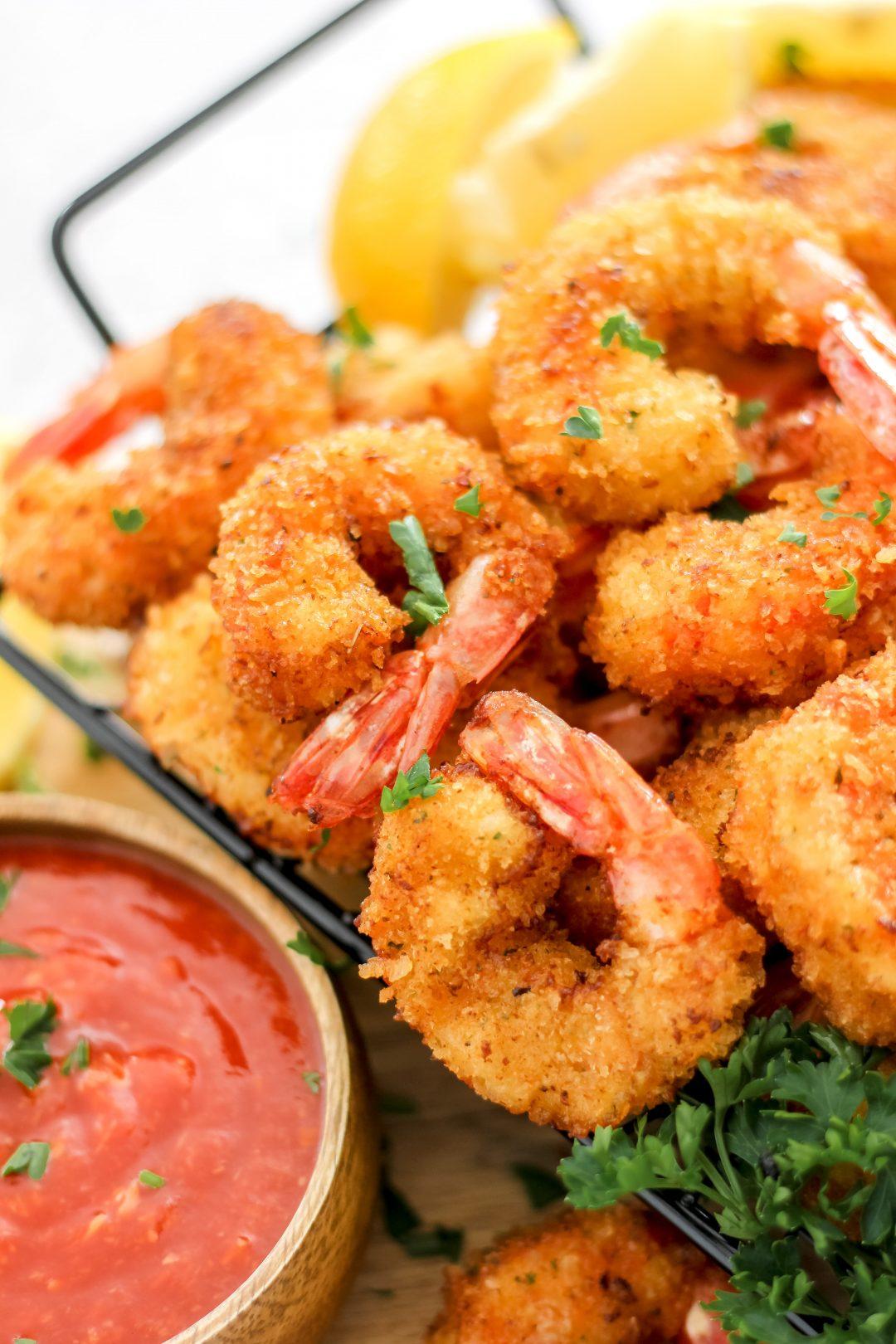 Crispy Fried Shrimp in Basket