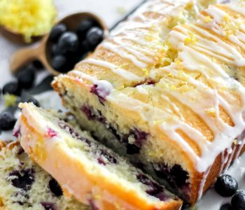 Easy Blueberry Lemon Loaf with Lemon Glaze