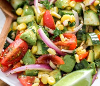 Tomato Avocado Cucumber Salad_Featured Image