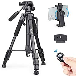 "63"" Camera Tripod Lightweight Travel Tripod Aluminum Tripod"