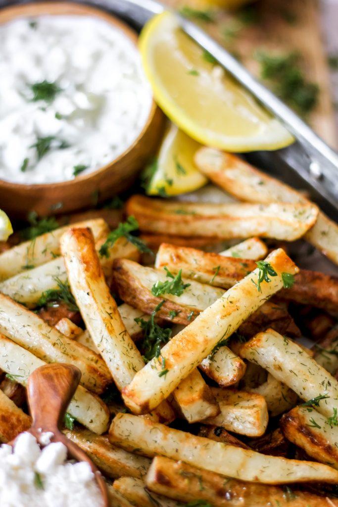 Air-Fryer Greek Fries with Tzatziki_Featured Image II