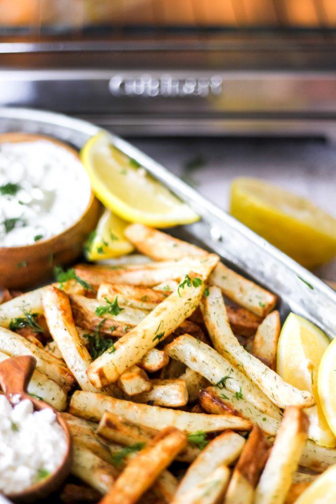 Air-Fryer Greek Fries with Tzatziki