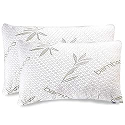 Bamboo Shredded Memory Foam Pillows, 2-Pack, Queen