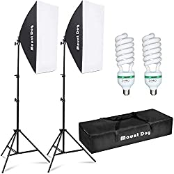 MOUNTDOG Photography Softbox Lighting Kit