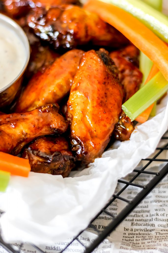 Air-Fryer Sticky Honey Garlic Chicken Wings