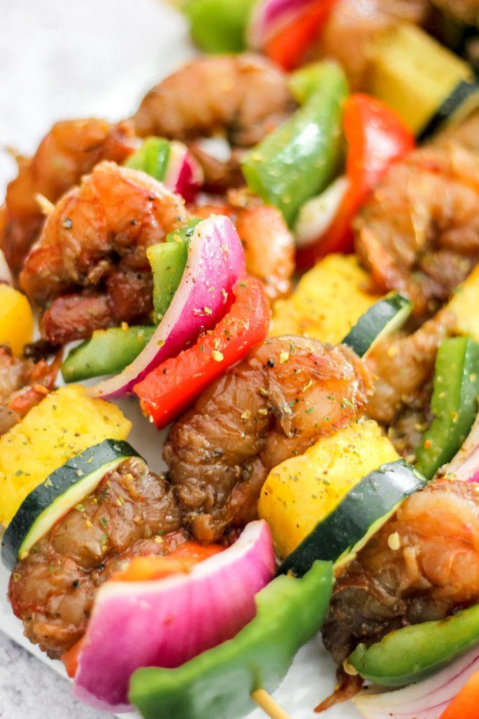 Air-Fryer Pineapple Jerk Chicken & Shrimp Skewers_Prep Shot