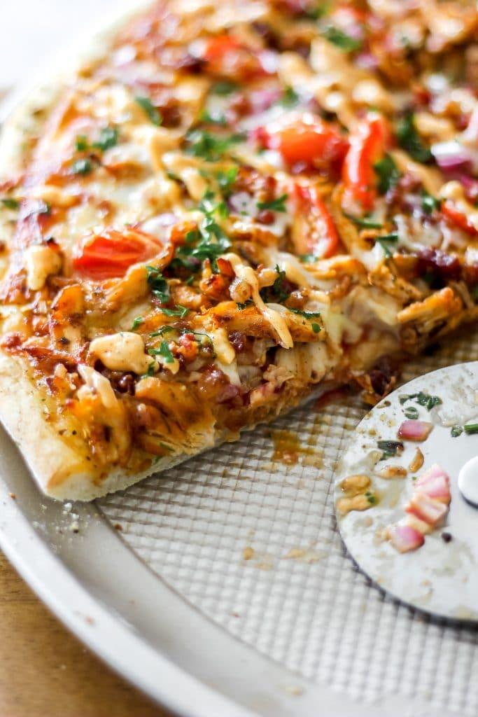 Homemade Chipotle BBQ Chicken Pizza_Slice