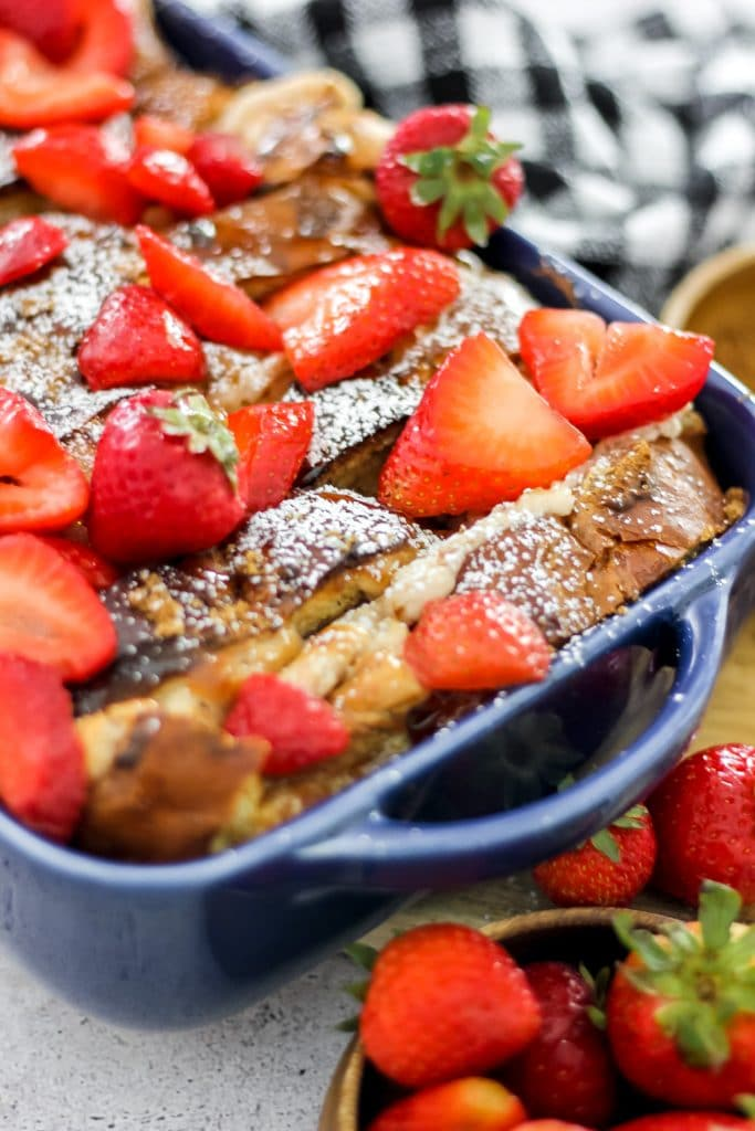 Strawberries and Cream French Toast Bake_Side View