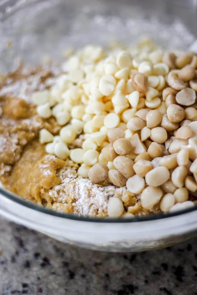 Cookie Dough, White Chocolate Chips and Macadamia Nuts